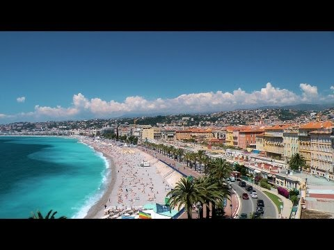 Nice - Beach and the Promenade des Anglais. French Riviera, France [HD] (videoturysta.eu)