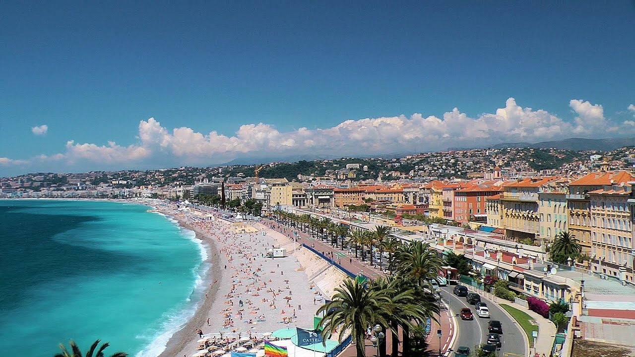 Beach And The Promenade Des Anglais. French Riviera