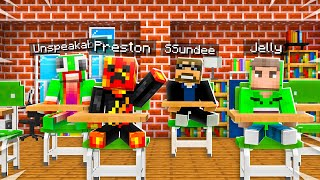 So I Took Baby Preston to Minecraft School... *expelled?*