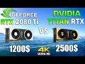 TITAN RTX vs RTX 2080 Ti Test in 8 Games 4K (i9 9900k)
