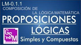 (LM-0.1.1) Proposiciones Lógicas (Simples y Compuestas) - Ejemplos y Ejercicios