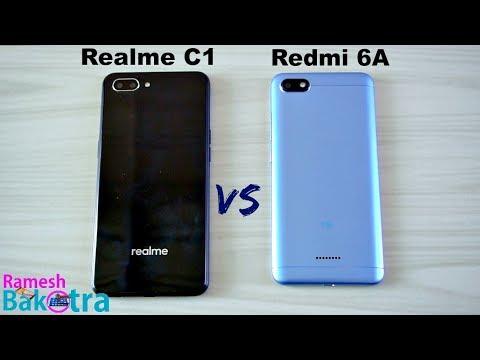 Realme C1 vs Redmi 6A SpeedTest and Camera Comparison