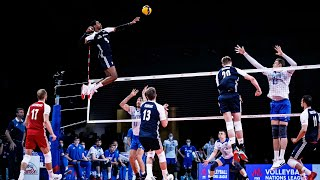 Here's Why Wilfredo Leon is THE KING Of Vertical Jump | Men's VNL 2021 (HD)