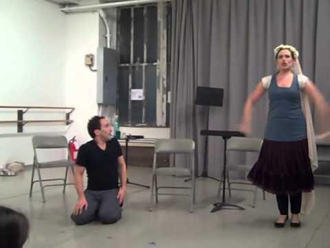 Chelsea Opera's rehearsal of Monica's Waltz from Gian Carlo Menotti's The Medium