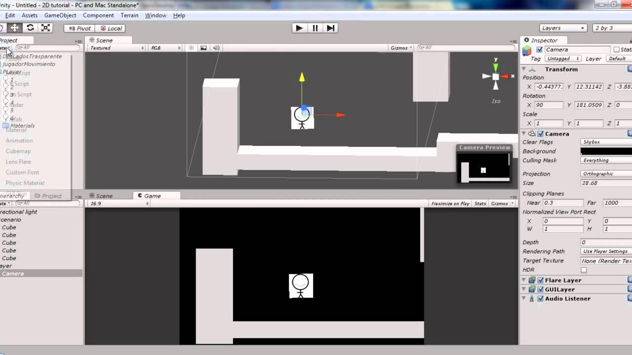 Juego 2d En Unity Parte 1 Configuracion Basica Youtube