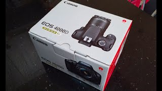 Unboxing the Canon EOS 4000D with EF-S 18-55mm f/3.5-5.6 III Lens
