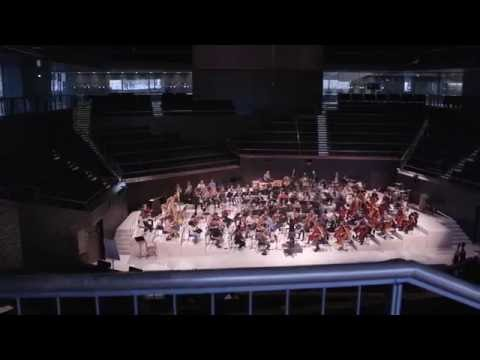 Sibelius Academy Symphony Orchestra Practicing In The Helsinki Music Centre