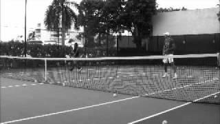 Ivo Karlovic training at Nunez Tennis