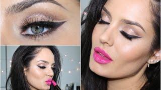 Glitter Cut Crease with Pink Lip! Eid Makeup Tutorial \\ ChloeMorello
