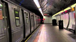 IND 6th Ave/63rd Street Line: R46 F Train Departing Roosevelt Island