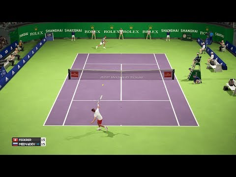 Shanghai Open 2018 - Roger Federer vs Daniil Medvedev - AO International Tennis PC Gameplay