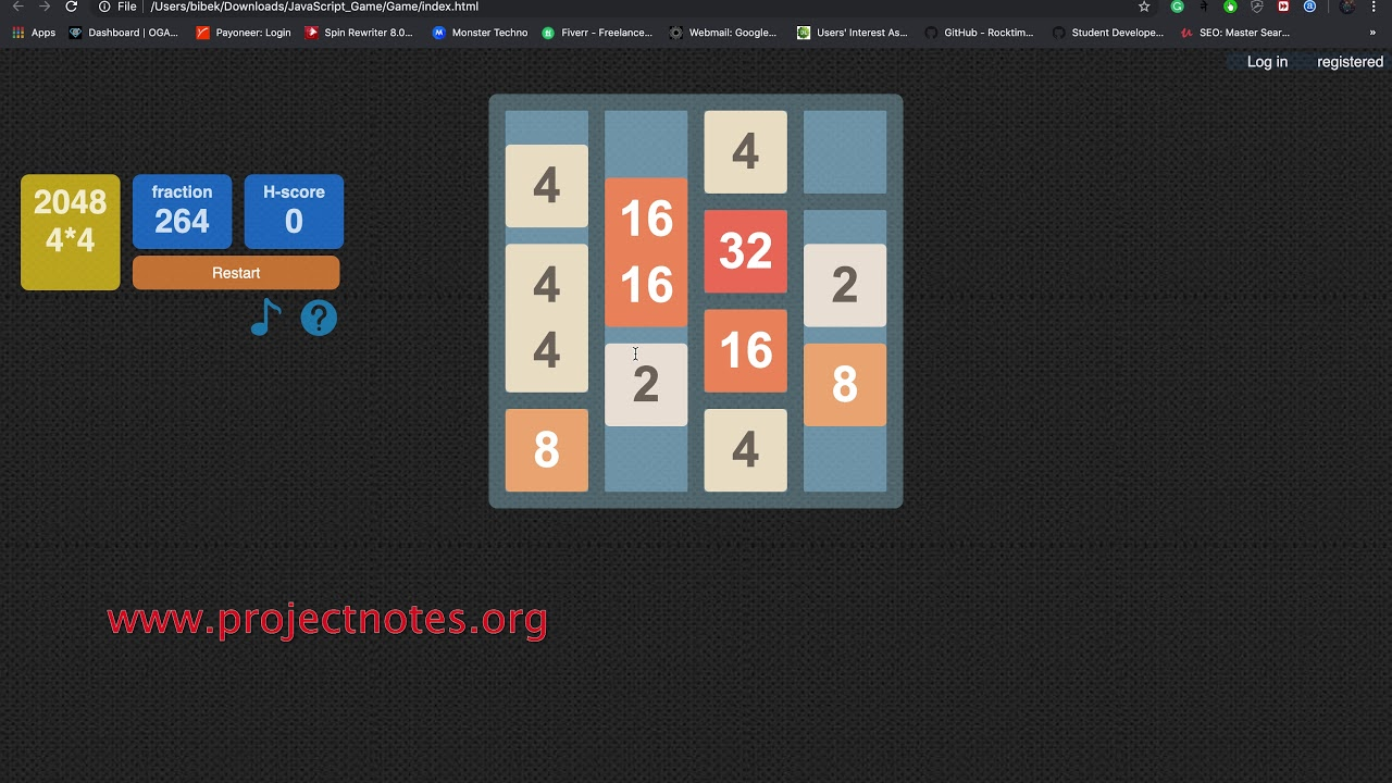 Simple JavaScript Game With Source Code | ProjectNotes