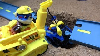 Paw Patrol Vehicles Rubble rescue Chase fun Video Toys
