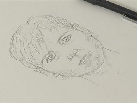 how to sketch a human face youtube