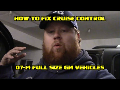HOW TO FIX CRUISE CONTROL 07-14 GM TRUCKS