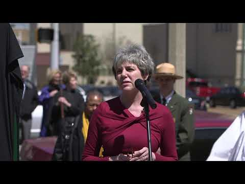 President Marjorie Hass Speaks at the Service of Remembrance and Reconciliation, Unveils New Marker
