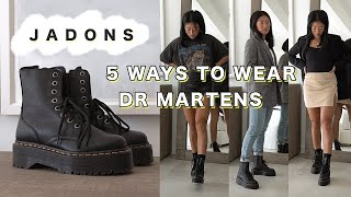 HOW TO STYLE DOCS | 5 Ways to Style Doc Martens Jadon Boots: Fall Outfits