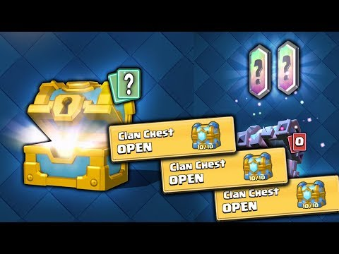 OPENING THE LAST EVER CLAN CHESTS IN CLASH ROYALE!!
