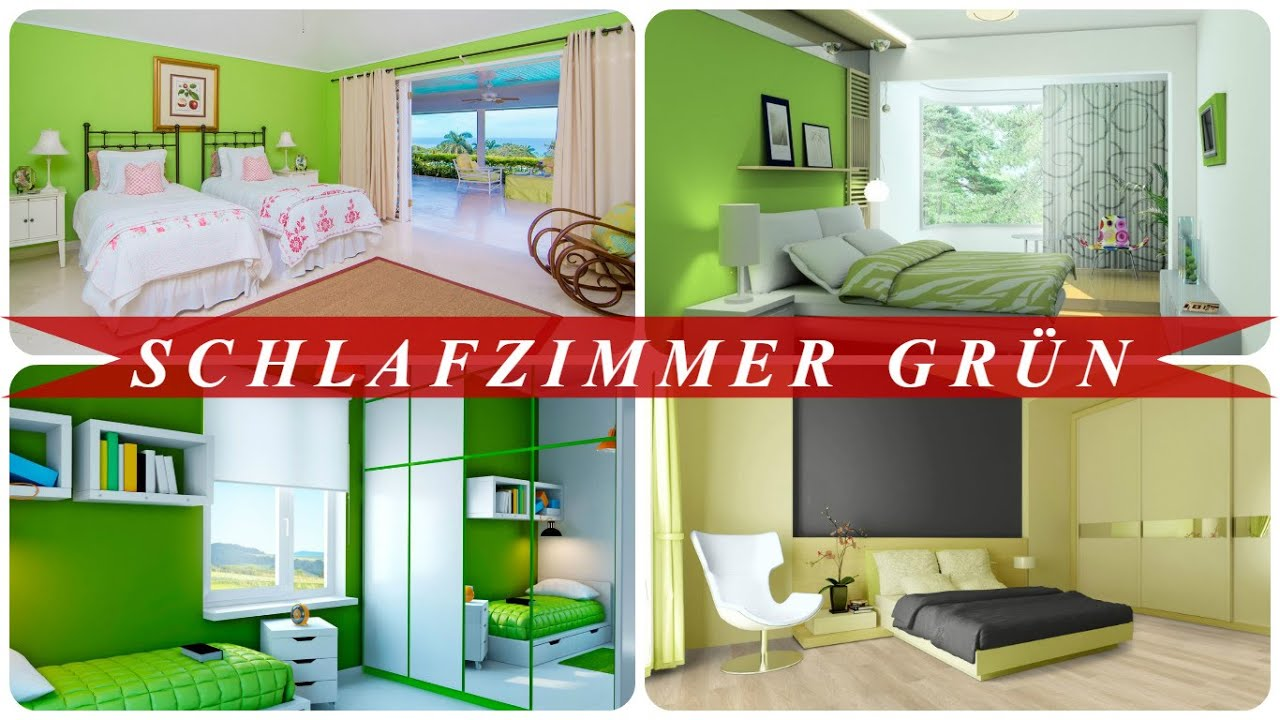 Schlafzimmer grün - YouTube
