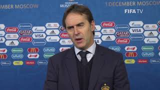 Julen LOPETEGUI – Spain - Final Draw Reaction