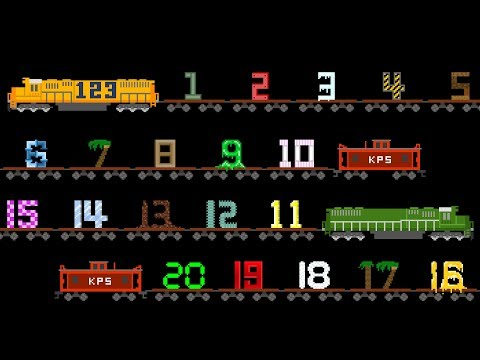 Vehicles 123 Song  Number Train  Counting to 20 with Street Vehicles  The Kids Picture Show