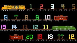 Vehicles 123 Song - Number Train - Counting to 20 with Street Vehicles - The Kids' Picture Show