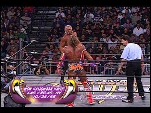 Ultimate Warrior vs Hollywood Hulk Hogan - WCW Halloween Havoc ...