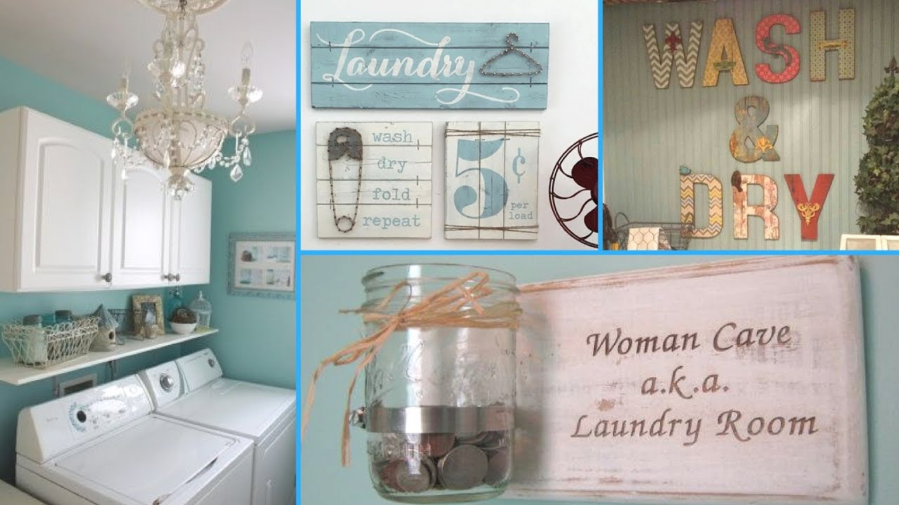 DIY Shabby Chic Style Laundry Room decor Ideas