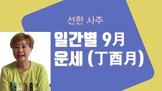 일간별 9월 운세(丁酉月) - 396강