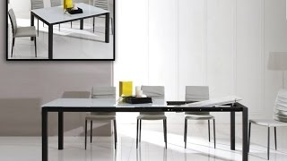 Commix - Modern Extendable Glass Dining Table