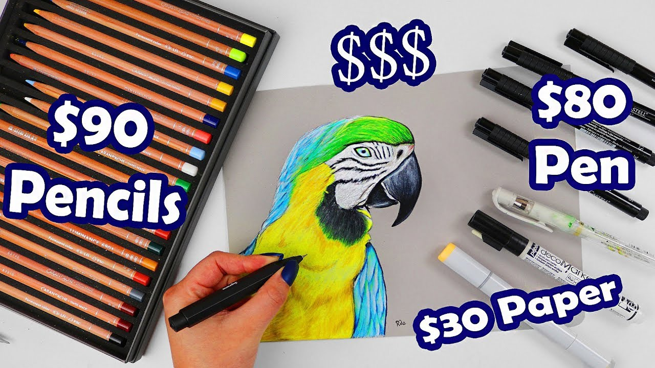 DOES MONEY MATTER? Drawing With My Priciest Art Supplies
