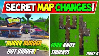 "*NEW* FORTNITE SECRET MAP CHANGES SEASON 8! ""DURRR BURGER EXPANDS"" + ""THE CUBE?"" Season 8 Storyline"