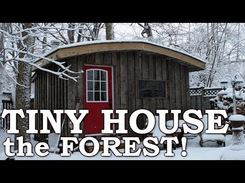 Off Grid Tiny Home on Wheels | Reclaimed Materials, Saw Mill, 30 Acres of Forest Materials