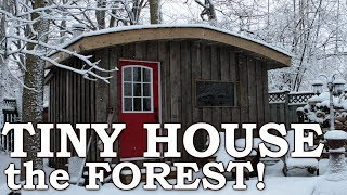 Video Off Grid Tiny Home on Wheels | Reclaimed Materials, Saw Mill, 30 Acres of Forest Materials download MP3, 3GP, MP4, WEBM, AVI, FLV Oktober 2018