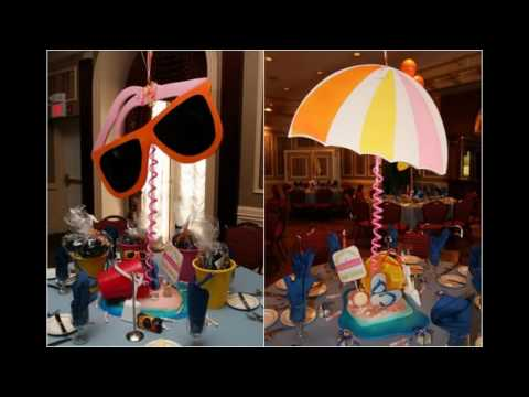 Beach party themed decorating ideas