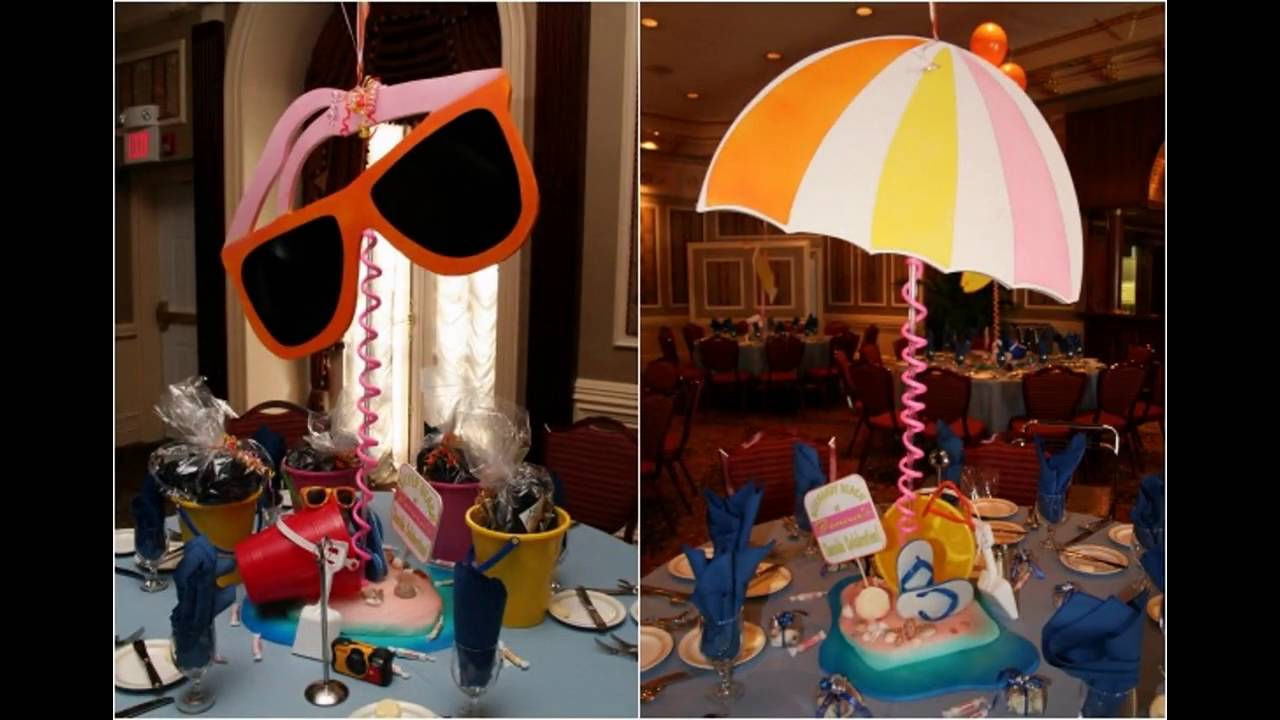Summer Themed Decorations Ideas Part - 50: Beach Party Themed Decorating Ideas - YouTube