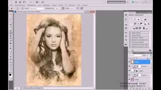 �������� ���� Урок Adobe Photoshop #30 | Текстурный портрет ������
