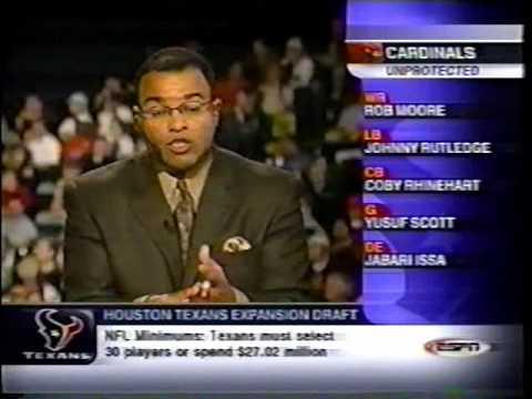 Texans History: Feb 18 2002 Expansion Draft Part 1