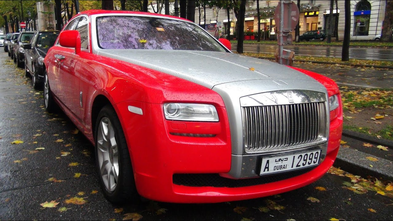 red rolls royce ghost from dubai in vienna youtube. Black Bedroom Furniture Sets. Home Design Ideas