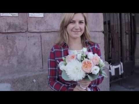 Нежный букет невесты с пионовидной розой Дэвида Остина