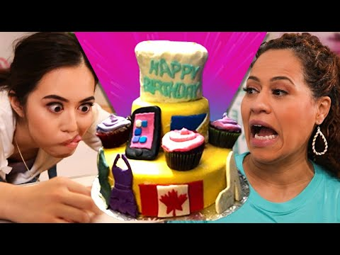 Turning epic cake FAIL into holiday gift box cake!    NEW SERIES   How To Cake It with Yolanda Gampp