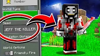 Do NOT Use The JEFF THE KILLER Seed in Minecraft!