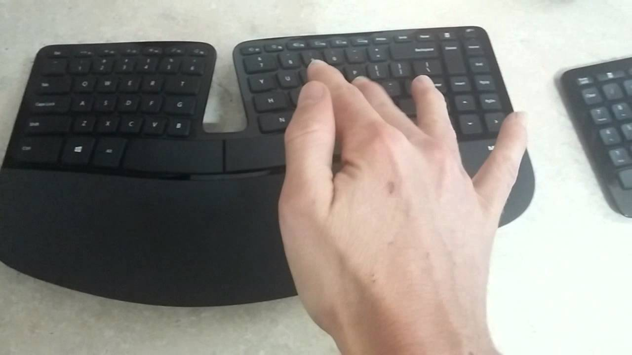 Microsoft Sculpt ergonomic keyboard unboxing and review