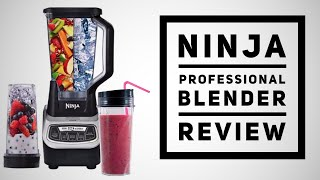 NINJA PROFESSIONAL BLENDER REVIEW with NUTRI NINJA CUPS - The ice crushing smoothie maker