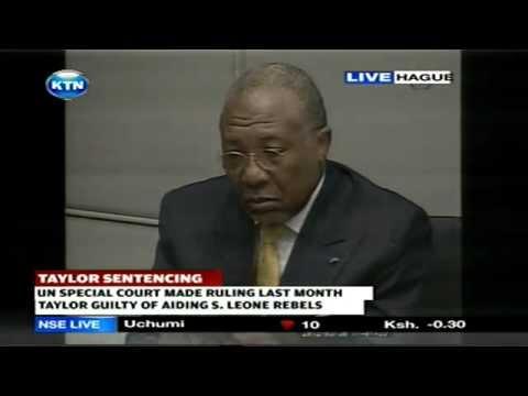 Charles Taylor jailed for 50 Years  [KTN Kenya TV]