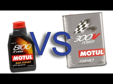motul 8100 x cess 5w40 vs motul 300v power 5w40 test youtube. Black Bedroom Furniture Sets. Home Design Ideas