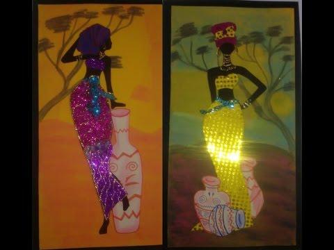 Como hacer cuadros de africanas en fomi damary youtube - Como hacer cuadros caseros ...