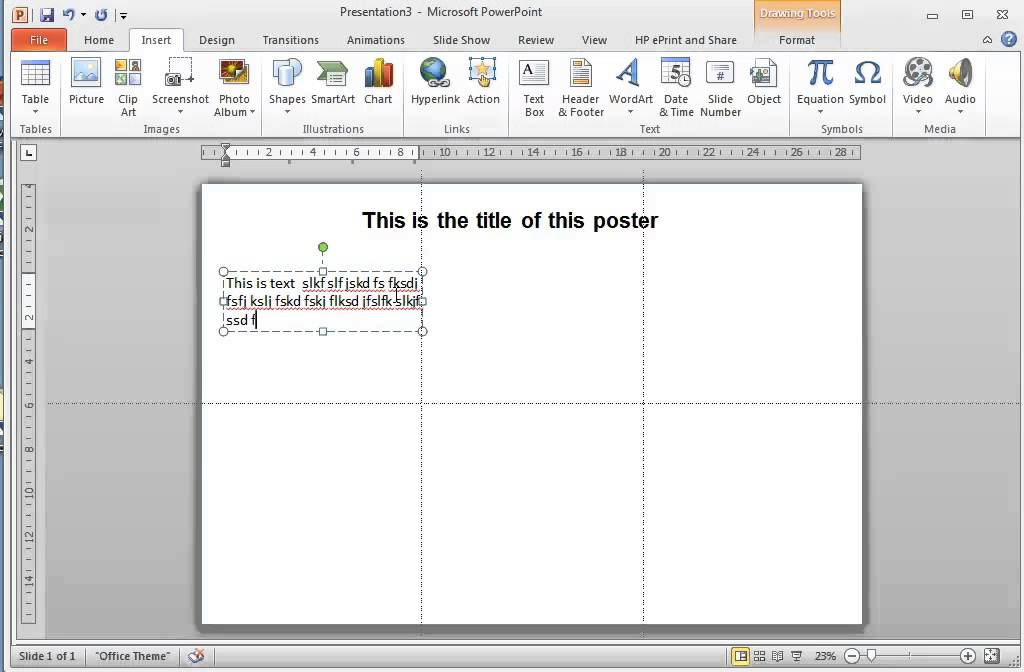creating posters using powerpoint 2010 for windows part 2 of 2