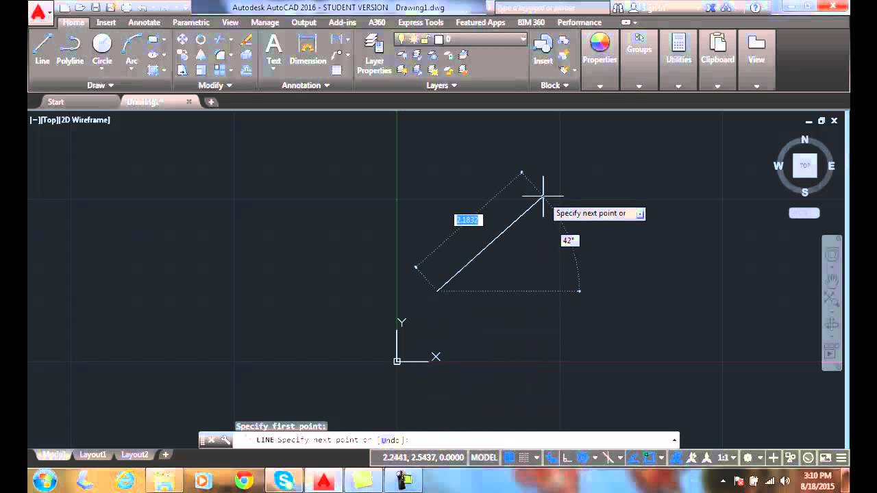 AutoCAD I 03-11 Coordinate Display
