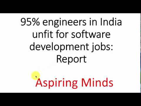 95% engineers in India unfit for software development: Report by Aspiring Minds